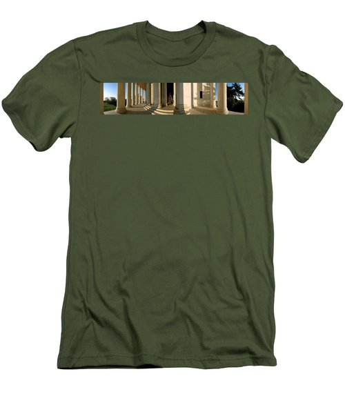 Columns Of A Memorial, Jefferson Men's T-Shirt (Slim Fit) by Panoramic Images