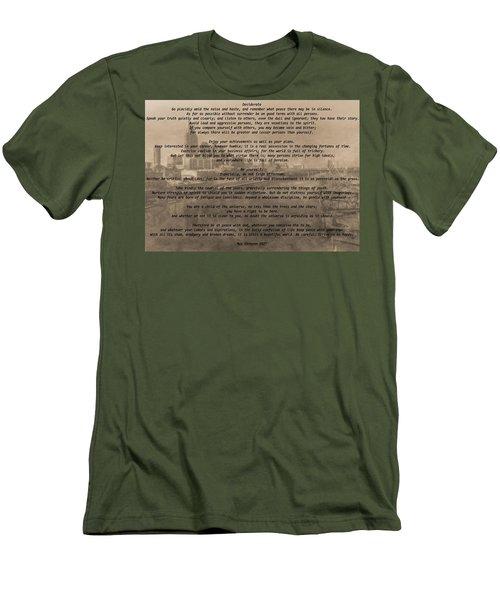 Desiderata Nashville Men's T-Shirt (Slim Fit) by Dan Sproul