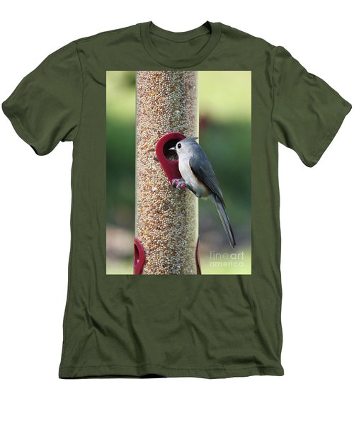 Eastern Tufted Titmouse  Men's T-Shirt (Slim Fit) by Carol Groenen