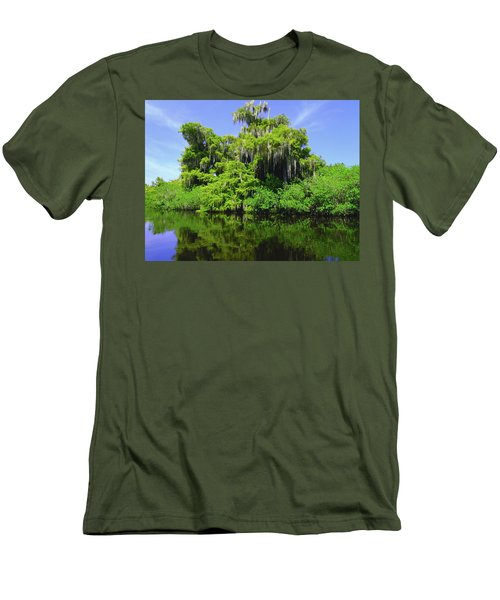 Florida Swamps Men's T-Shirt (Slim Fit) by Carey Chen