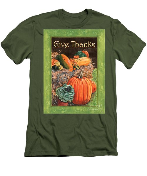 Give Thanks Men's T-Shirt (Slim Fit) by Debbie DeWitt
