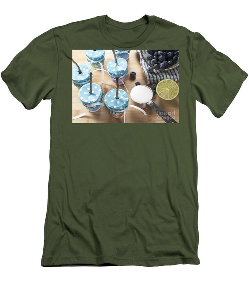 Homemade Blueberry Popsicles Men's T-Shirt (Slim Fit) by Juli Scalzi