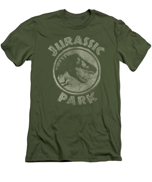 Jurassic Park - Jp Stamp Men's T-Shirt (Slim Fit) by Brand A