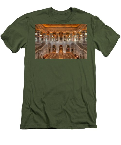 Library Of Congress Men's T-Shirt (Slim Fit) by Steve Gadomski