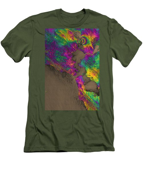 Men's T-Shirt (Slim Fit) featuring the photograph Napa Valley Earthquake, 2014 by Science Source