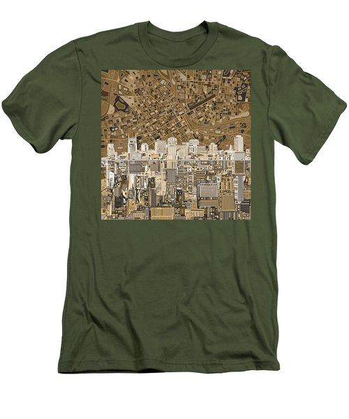 Nashville Skyline Abstract 2 Men's T-Shirt (Slim Fit) by Bekim Art