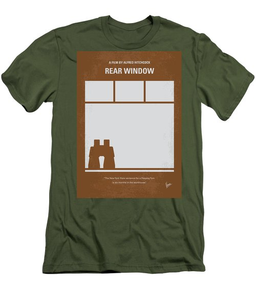 No238 My Rear Window Minimal Movie Poster Men's T-Shirt (Slim Fit) by Chungkong Art