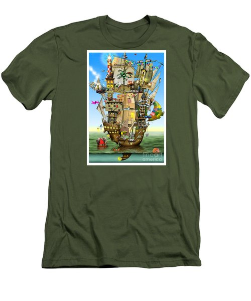 Norah's Ark Men's T-Shirt (Slim Fit) by Colin Thompson