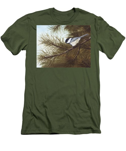 Out On A Limb Men's T-Shirt (Slim Fit) by Rick Bainbridge
