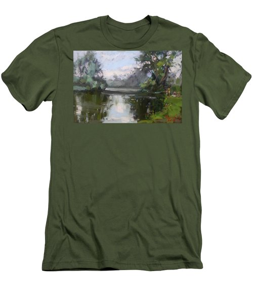 Outdoors At Hyde Park Men's T-Shirt (Slim Fit) by Ylli Haruni