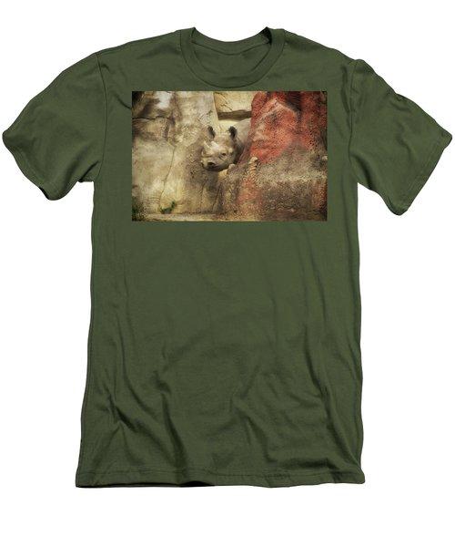 Peek A Boo Rhino Men's T-Shirt (Slim Fit) by Thomas Woolworth