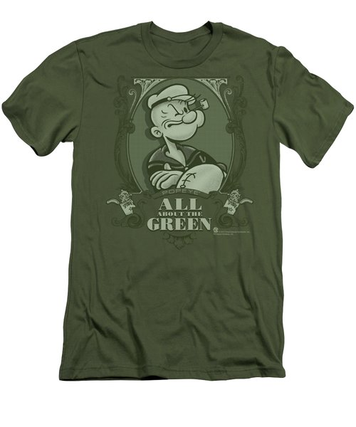 Popeye - All About The Green Men's T-Shirt (Slim Fit) by Brand A