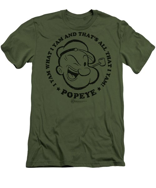 Popeye - I Yam Men's T-Shirt (Slim Fit) by Brand A