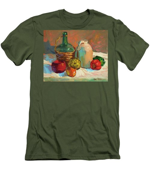 Pottery And Vegetables Men's T-Shirt (Slim Fit) by Diane McClary