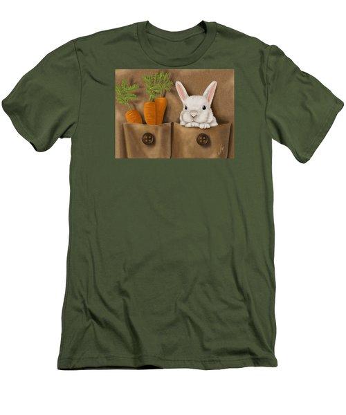 Rabbit Hole Men's T-Shirt (Slim Fit) by Veronica Minozzi