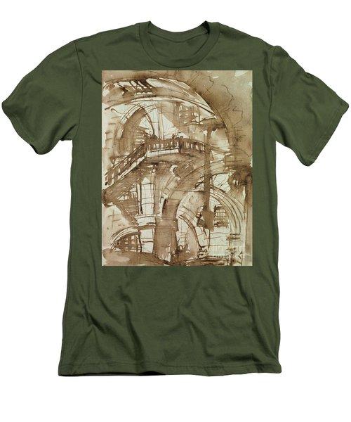 Roman Prison Men's T-Shirt (Slim Fit) by Giovanni Battista Piranesi