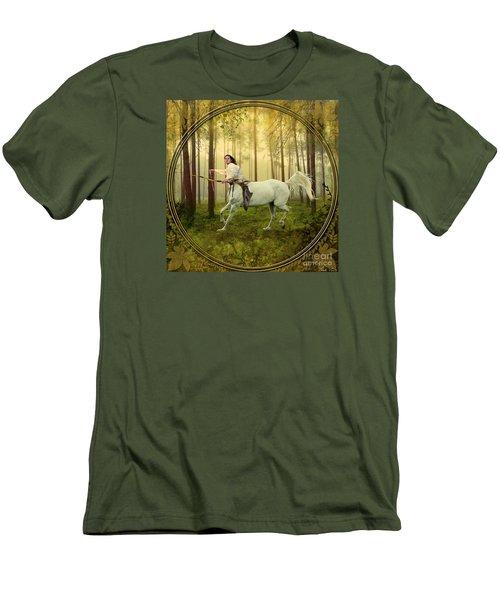 Sagittarius Men's T-Shirt (Slim Fit) by Linda Lees