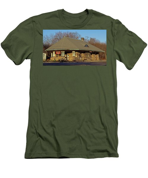 Train Stations And Libraries Men's T-Shirt (Slim Fit) by Skip Willits