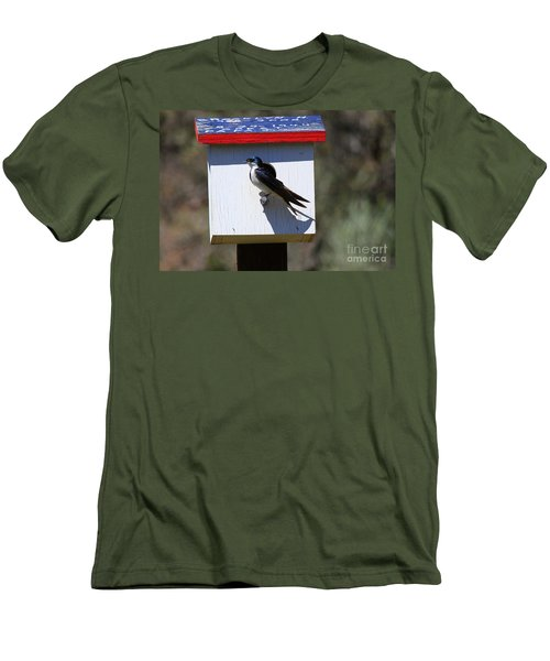 Tree Swallow Home Men's T-Shirt (Slim Fit) by Mike  Dawson