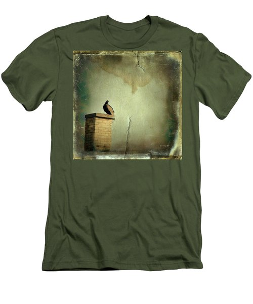 Turkey Vulture Men's T-Shirt (Slim Fit) by Gothicrow Images