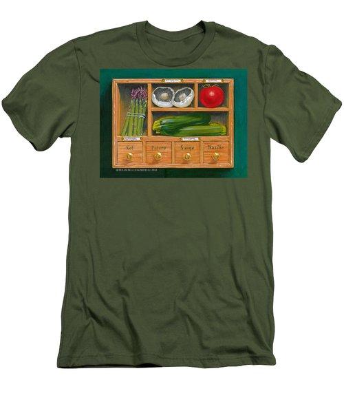 Vegetable Shelf Men's T-Shirt (Slim Fit) by Brian James