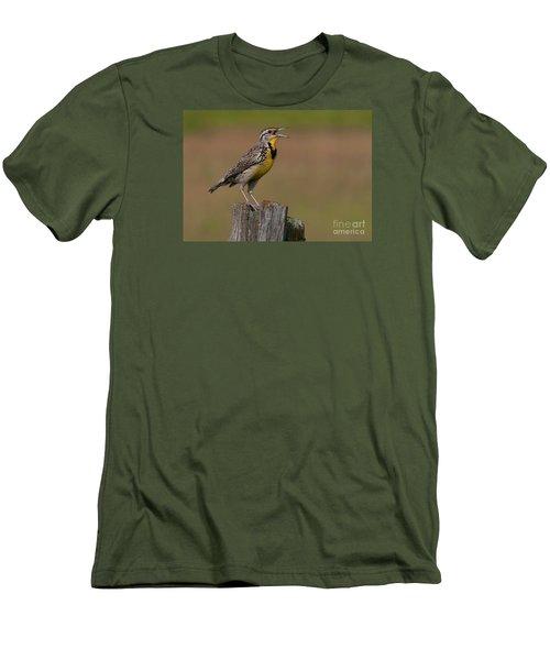 Western Meadowlark.. Men's T-Shirt (Slim Fit) by Nina Stavlund