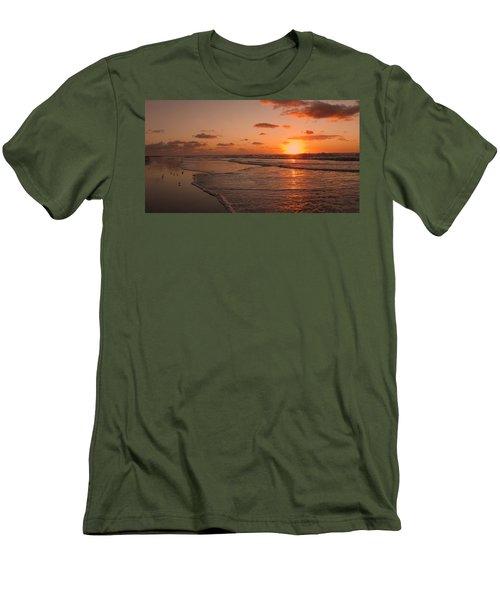 Wildwood Beach Sunrise II Men's T-Shirt (Slim Fit) by David Dehner
