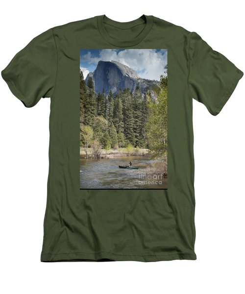 Yosemite National Park. Half Dome Men's T-Shirt (Slim Fit) by Juli Scalzi