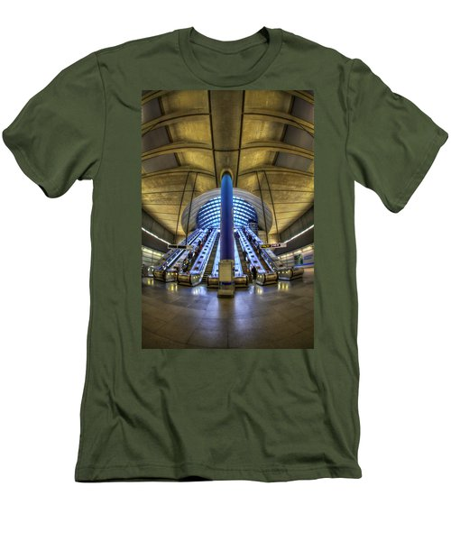 Alien Landing Men's T-Shirt (Slim Fit) by Evelina Kremsdorf