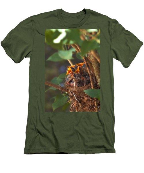 Feeding Time Men's T-Shirt (Slim Fit) by Joann Vitali