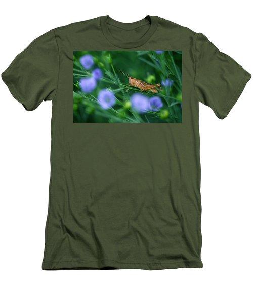 Grasshopper Men's T-Shirt (Slim Fit) by Mike Grandmailson