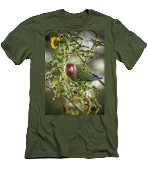 Lovely Little Lovebird Men's T-Shirt (Slim Fit) by Saija  Lehtonen