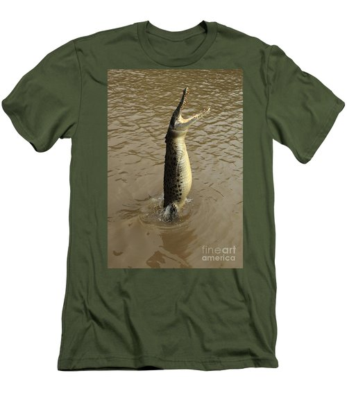 Salt Water Crocodile Men's T-Shirt (Slim Fit) by Bob Christopher