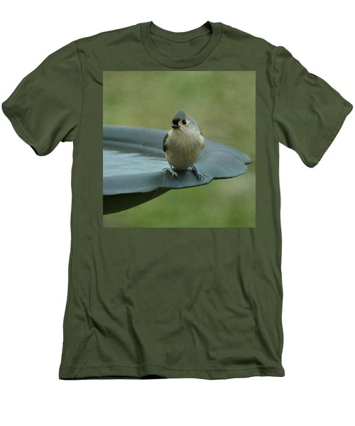 Tufted Titmouse Men's T-Shirt (Slim Fit) by Sandy Keeton