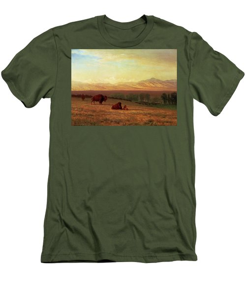 Buffalo On The Plains Men's T-Shirt (Slim Fit) by MotionAge Designs