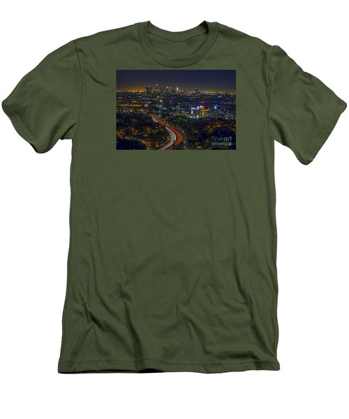 Los Angeles Sunrise Men's T-Shirt (Slim Fit) by Art K