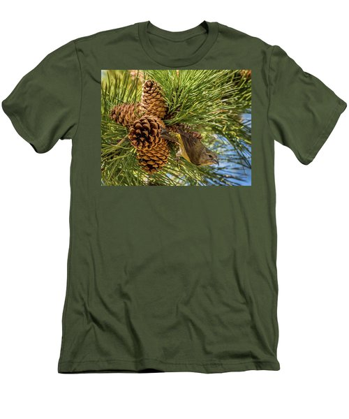 Red Crossbill Men's T-Shirt (Slim Fit) by Michael Cunningham