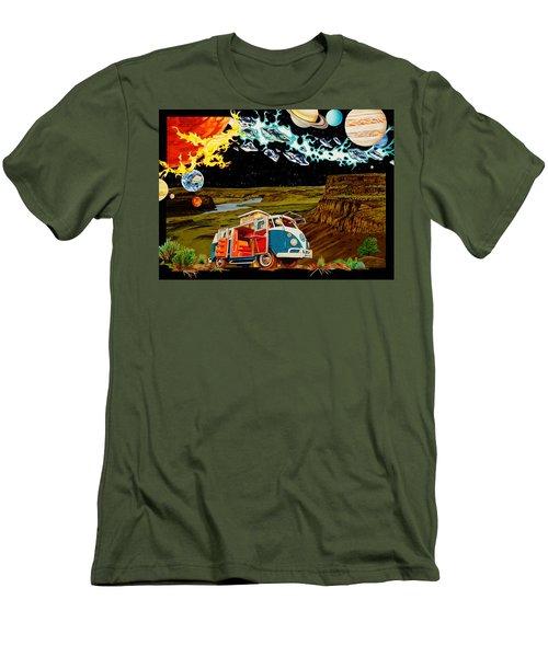 The Gorge One Sweet World Men's T-Shirt (Slim Fit) by Joshua Morton