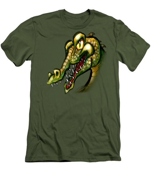 Crocodile Men's T-Shirt (Slim Fit) by Kevin Middleton