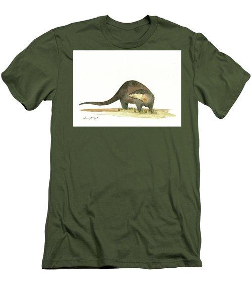 Otter Men's T-Shirt (Slim Fit) by Juan Bosco