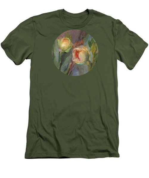 Evening Bloom Men's T-Shirt (Slim Fit) by Mary Wolf