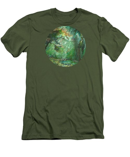 Rainy Woods Men's T-Shirt (Slim Fit) by Mary Wolf