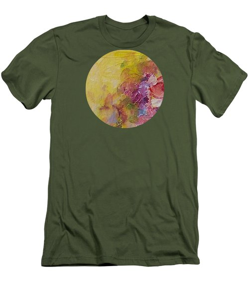 Floral Still Life Men's T-Shirt (Slim Fit) by Mary Wolf