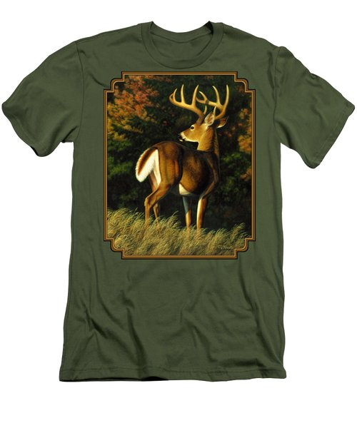 Whitetail Buck - Indecision Men's T-Shirt (Slim Fit) by Crista Forest