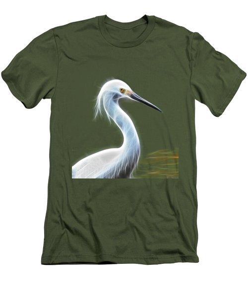 Snow Egret Men's T-Shirt (Slim Fit) by Shane Bechler