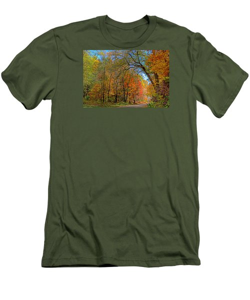 Men's T-Shirt (Slim Fit) featuring the photograph Autumn Light by Rodney Campbell