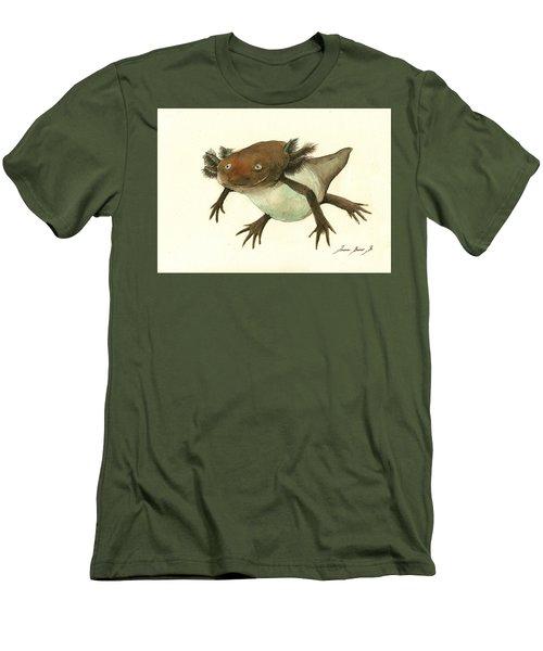 Axolotl Men's T-Shirt (Slim Fit) by Juan Bosco