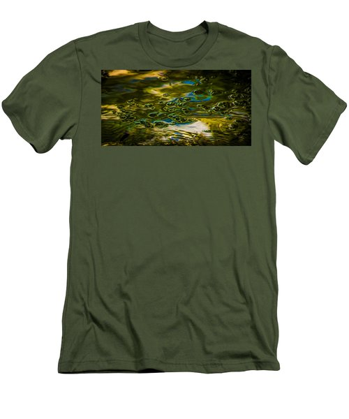 Bubbles And Reflections Men's T-Shirt (Slim Fit) by Marvin Spates