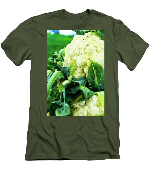 Cauliflower Head Men's T-Shirt (Slim Fit) by Teri Virbickis