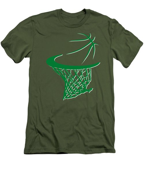 Celtics Basketball Hoop Men's T-Shirt (Slim Fit) by Joe Hamilton